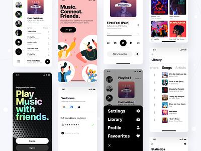 UI/UX Music & Podcast App Design dogecoin sick black podcast uiuxdesign ux design ux  ui logo typography illustration designer vector ux app ui design