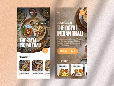 UI Design - Indian Restaurant Ordering App royal yellow typography branding logo illustration designer vector ux app ui design food