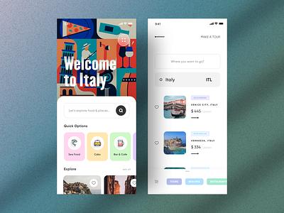 UI Design - Travel and Tours Concept typography branding 3d motion graphics graphic design animation logo illustration designer vector ux app ui design