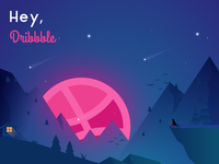 My Debut On Dribbble Community. First Shot