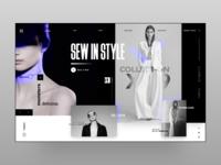 Women Fashion Landing Page Concept