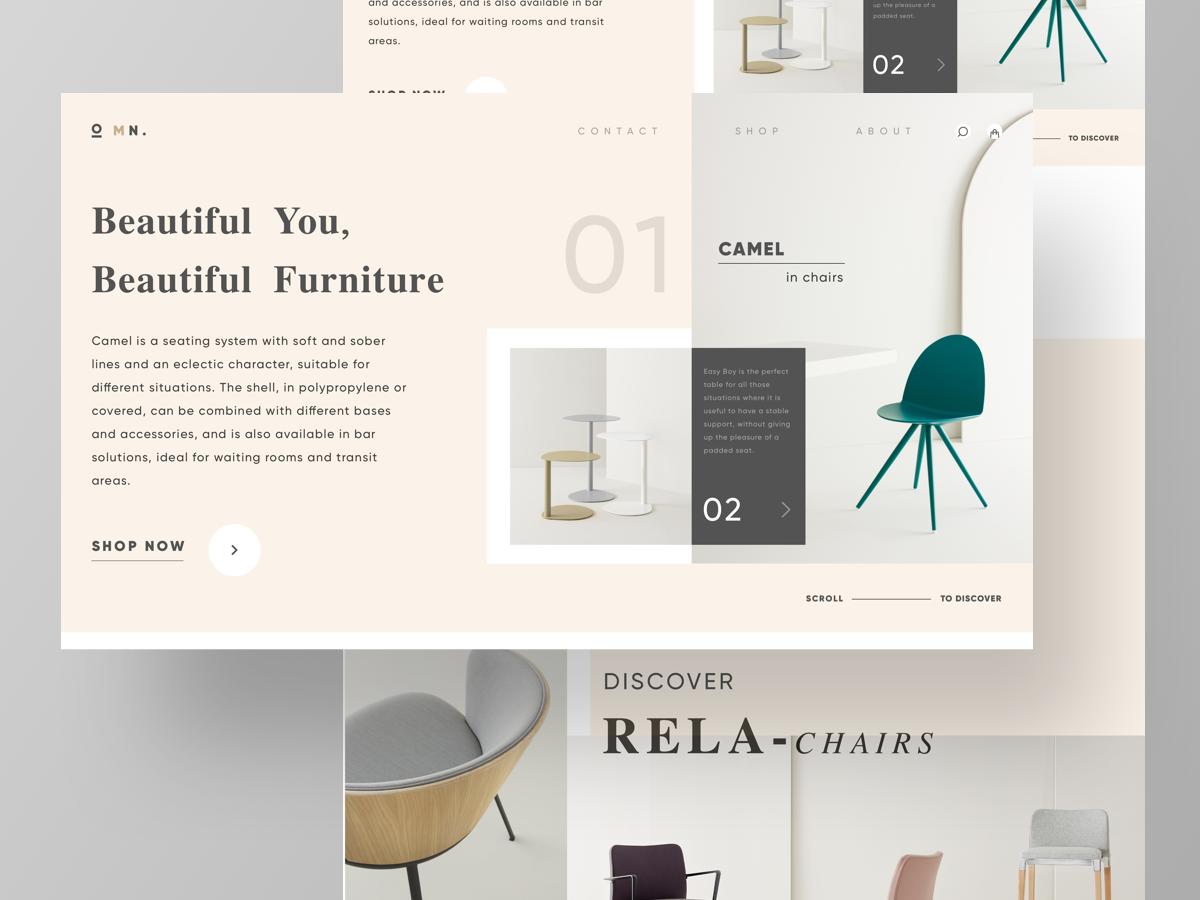 MN Furniture Hero Page hero furniture minimal type dribbble branding web illustrator sketch graphic typography logo illustration designer vector ux app ui design