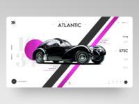 Vintage Car Landing Page Concept
