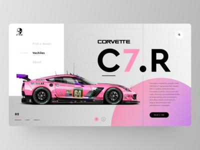 Corvette Car Landing Page Concept - C7.R