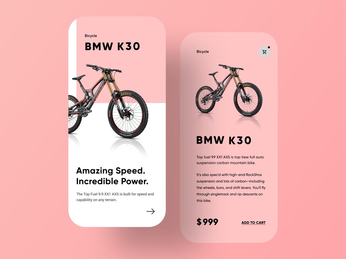 UI design - Bicycle App UI app design dribbble type web branding illustrator animation graphic sketch logo typography illustration designer vector ux app ui design