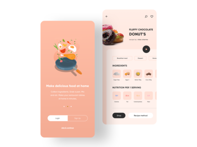 Recipe Book: Recipe's & Shopping App UI