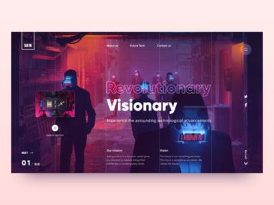 Revolutionary Visionary Future Tech Landing Page Concept