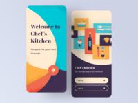 "UI Design - Chef's Kitchen "" we speak the good food language """