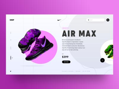 UI Design - Nike Air Max Landing Page Concept