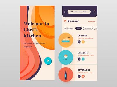 UI Design - Chef's Kitchen Version 2 visual design mobileappdesign appuidesign uiux dribbblers uxdesigner uidesigner uidesign appdesign graphic sketch logo typography illustration designer vector ux app ui design