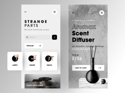 "UI Design - Strange Parts "" Get something unique for your home """