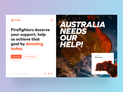 Landing Page: Donations for Australia, They Need Our Help!
