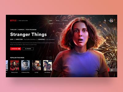 Landing Page: Netflix UI Design uidesign landingpage appdesigner web design concept chill red joker netflix sketch logo typography illustration designer vector ux app ui design