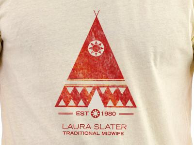 T-Shirt Design tshirt design screenprinting screen distressed midwife tribal vintage silkscreen onecolor one-color