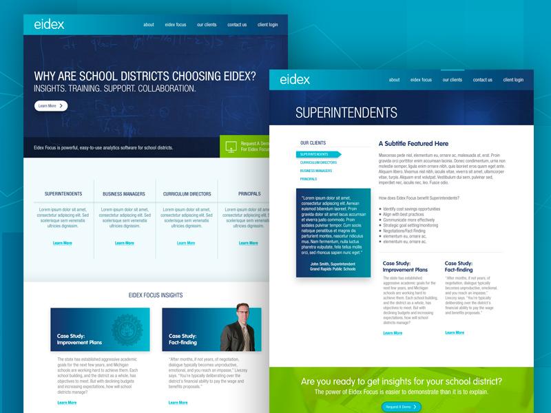 Eidex Concept web design webdesign interface design ux ui