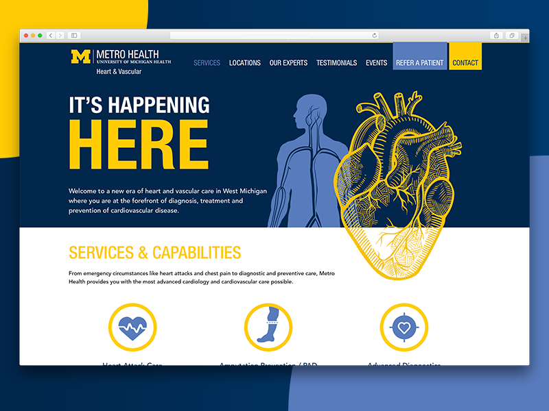 Metro Health front-end interface ux ui webdesign