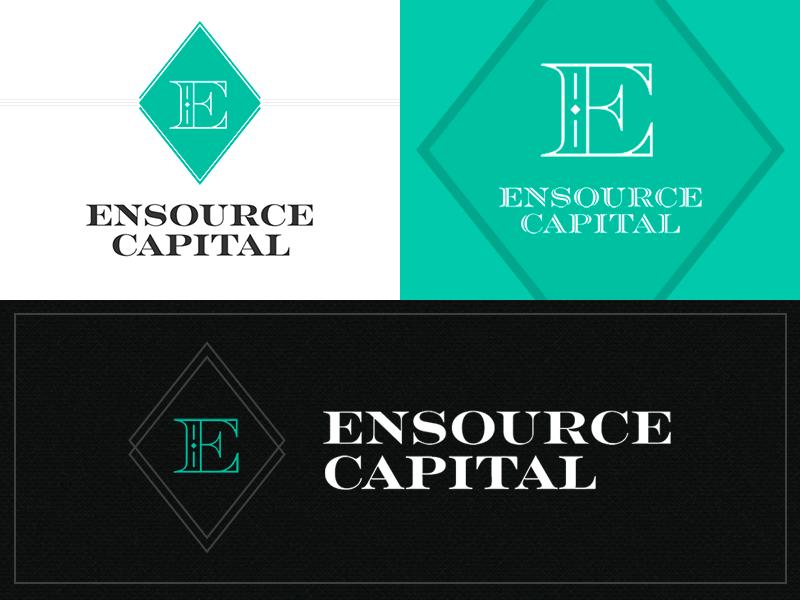 Ensource: Brand Exploration #1 mark logomark branding brand identity logo