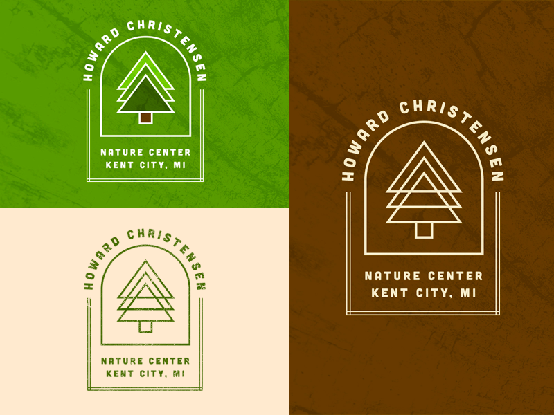 Howard Christensen Nature Center kent city nature center clean stamp badge geometric minimalism texture michigan nature