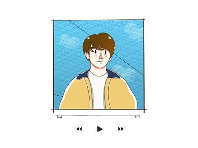 Illustration #4 bts vector illustration doodle