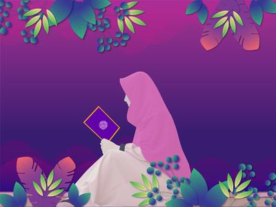 Women Read Quran Gradient