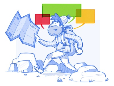 """""""Going the Extra Mile"""" hike one design character visual brand identity adobe photoshop illustration"""