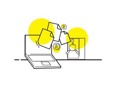 """Transfer"" cryptocurrency crypto design ui adobe illustrator brand brand identity hike one adobe visual illustration"