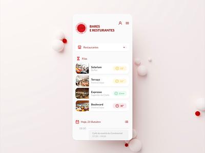 Restaurant App design ux ui blender3d colors