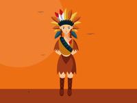Dribble native americain girl 2d