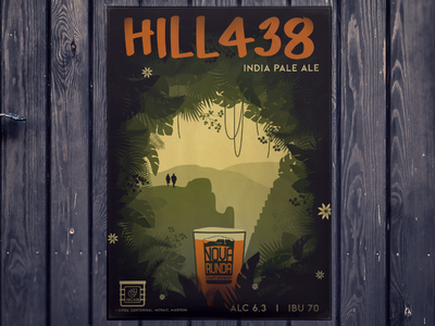 Hill438 - craft beer poster adobe photoshop adobe illustrator nova runda illustration poster craft beer