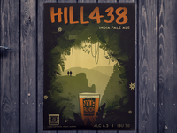 Hill438 - craft beer poster