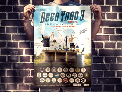 Poster for craft beer festival poster design photo manipulation adobe photoshop craft beer