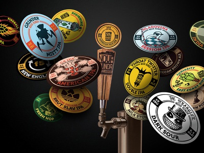 Beer tap handle and magnets product design graphic design design beer nova runda craft beer adobe photoshop adobe illustrator illustration