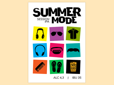 Summer Mode vector poster design graphic design design beer poster nova runda illustration adobe illustrator