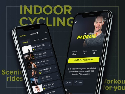 CycleMasters app lessons cycling lessons fitness app fit training search results search dark detail page sorting filters filter list workout app ios spinning fitness