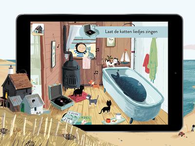 De Kleine Walvis: Simon says minigame kids app children childrens book game animation illustration picture minigame story