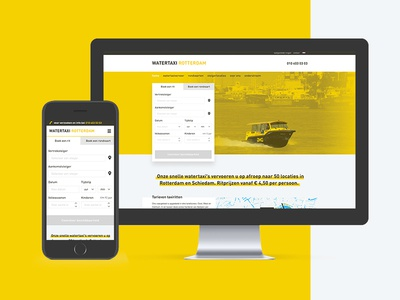 Watertaxi Rotterdam website yellow taxi water reservation tool website web mobile responsive