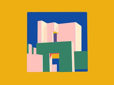 Fortaleza roja geometric building architecture walls arquitectura
