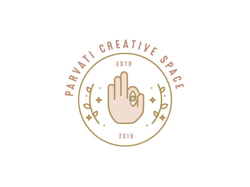 Parvati Creative Space indian illustration mistery mystic logo mark