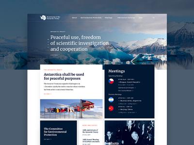 Antarctic Treaty Web Design