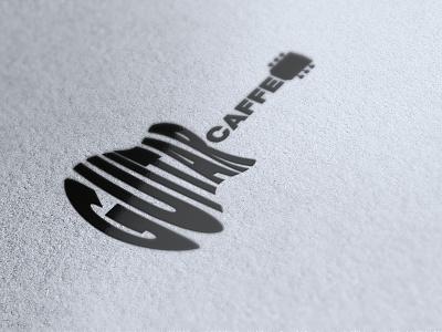 Guitar Caffe Logo logo guitar caffee caffe guitar