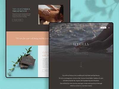 Hygeia — Home Page logo vector website ui colour webdesign digital identity design brand