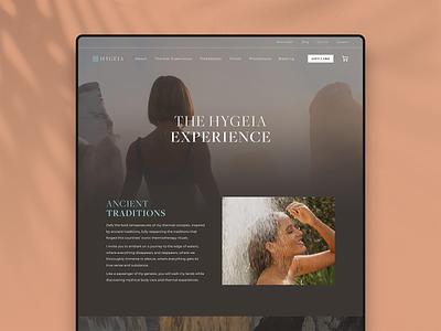 Hygeia — Thermal Experience logo colour branding website webdesign ui identity design digital brand