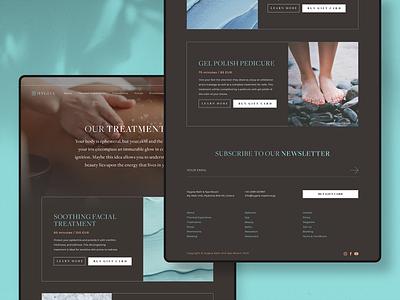Hygeia — Treatments logo colour branding website webdesign ui identity digital design brand