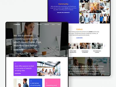 Ideate — Home logo colour branding website ui webdesign identity digital design brand