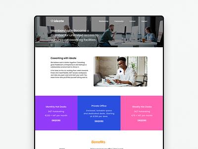 Ideate — Membership logo colour branding website webdesign ui identity digital design brand