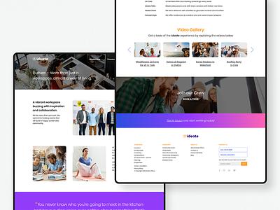 Ideate — Culture logo colour branding website webdesign ui identity digital design brand