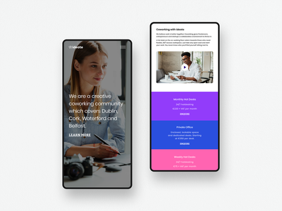 Ideate — Mobile View logo colour branding website ui webdesign identity digital design brand