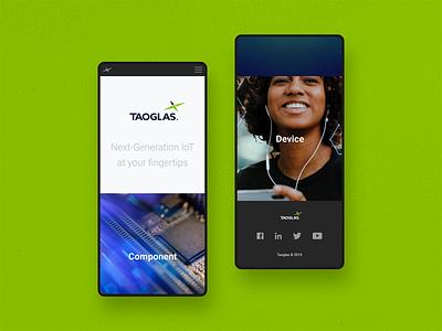 Taoglas IoT — Mobile Views web branding website webdesign ui identity digital design colour brand