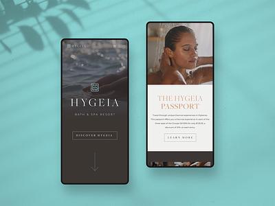 Hygeia — Mobile Views web branding website webdesign ui identity digital design colour brand
