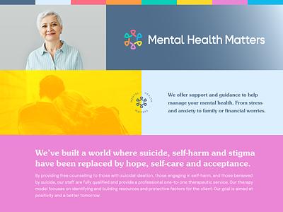 Mental Health Matters — Brand Card photography logo vector wellness mental health design colour branding identity brand